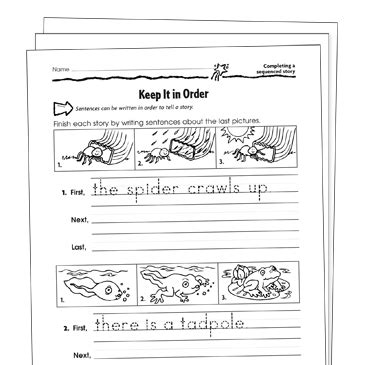 sequencing grade  collection printable leveled learning