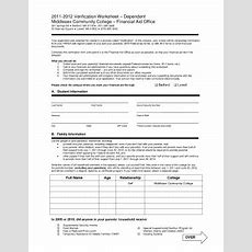 Dependent Verification Worksheet  Fill Online, Printable, Fillable, Blank Pdffiller