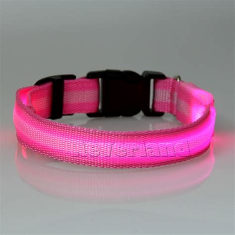 led halsband light verstellbare leuchtend leuchthalsband