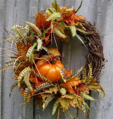 autumn wreath ideas fall wreaths pumpkin wreath autumn d 233 cor thanksgiving