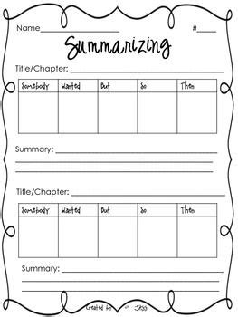 summarizing worksheet reading 4th grade reading 6th