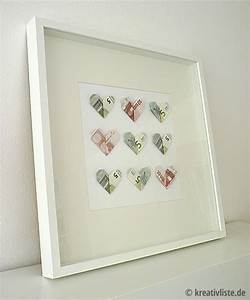 Geldgeschenk Zur Hochzeit DIY Geldscheine In Herzform