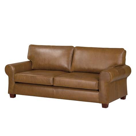 bezede canape canapé alexo 2 places cuir véritable marron