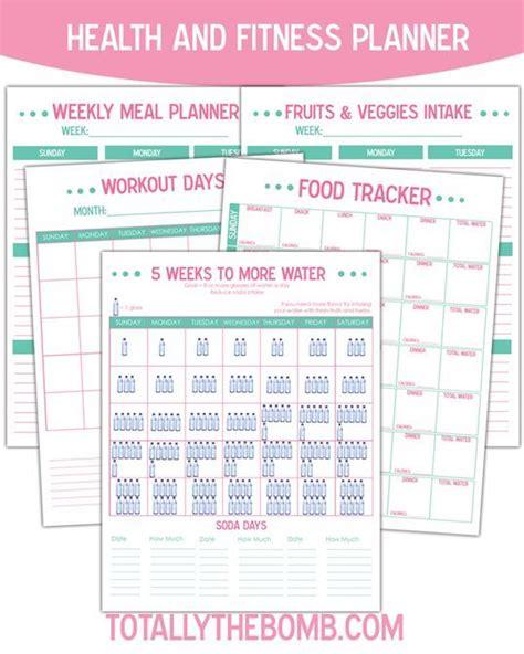 printable health  fitness planner diy ideas