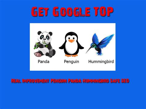 get seo get top ranking real improvement penguin panda