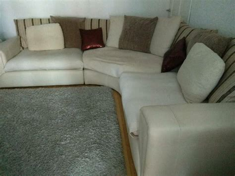 Large Corner Settee by Large 7 8 Seater Real Leather Fabric Curved Corner
