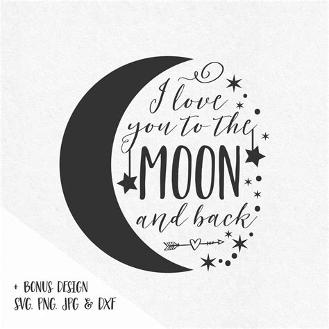 I You To The Moon And Back Kleurplaat by I You To The Moon And Back Svg Sayings Moon Svg