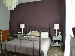 Deco Avec Du Gris : d co chambre taupe aubergine exemples d 39 am nagements ~ Zukunftsfamilie.com Idées de Décoration