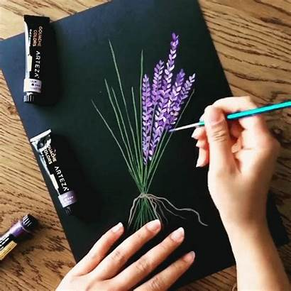 Painting Acrylic Tutorials Canvas Easy Paintings Beginners