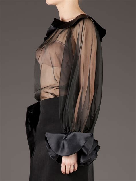 s sheer blouses givenchy s sheer one sleeve blouse faeaa