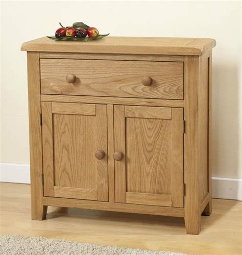 small credenza burnham solid chunky wood rustic oak small compact