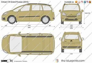 Citroen C4 Grand Picasso Vector Drawing