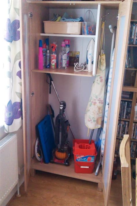 austmarka wardrobe  broom cupboard ikea hackers ikea