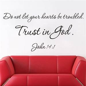 new new designs christian quote wall decals trust is god With biblical wall decals ideas