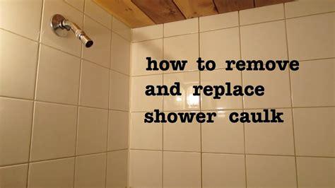 remove  shower silicone caulk  apply
