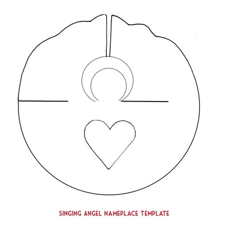 Paper Plate Angel Craft Template