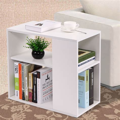 Sofa Bookcase by Coffee Tray Side Sofa Table Ottoman Room Console