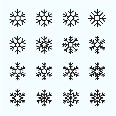 Yawd provides for you free svg snowflake cliparts. Snowflake Vector Icons Part 01