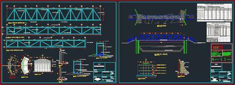 pedestrian bridge dwg block  autocad designs cad