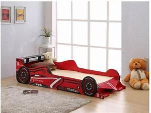 Lit Voiture 90x190 : lit voiture rouge 90x190 cm avec leds formule 1 lit ~ Teatrodelosmanantiales.com Idées de Décoration