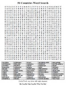 Countries Word Search 50