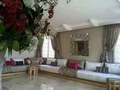 Salon Marocain Mamounia Avec Tissu Dalal Violet Beige