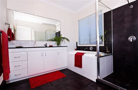 Red Black And White Bathroom Photograph By Darren Burton Basement Home Office Design Ideas Raised Floor In Dig Out Small Ranch House Plans With Living Health Removing Mold From Walls Theater Pictures Ceiling Cheap