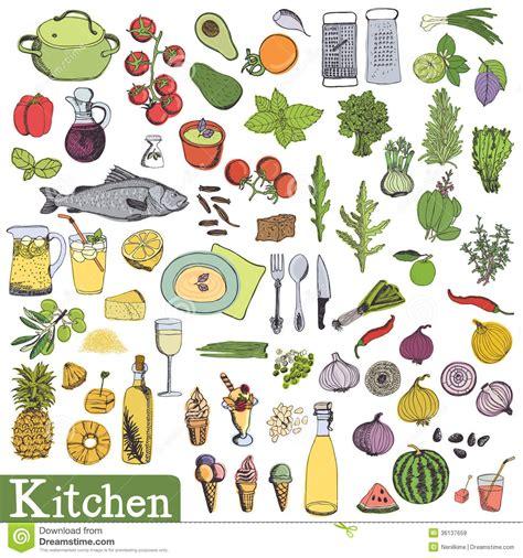 cuisine illustration big kitchen set stock vector image of grater fork