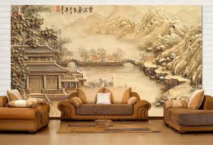 Papier Peint Chinoise by Papier Peint Asiatique Sur Mesure Style Chinois Maison Au