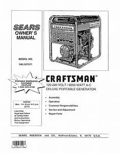 Craftsman 580 327071 User Manual