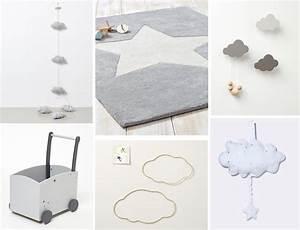 Inspiration déco #1 : nuages et étoiles pour la chambre de bébé