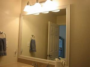 Diy mirror frame tips and tricks for beautiful decoration for How to frame a bathroom mirror