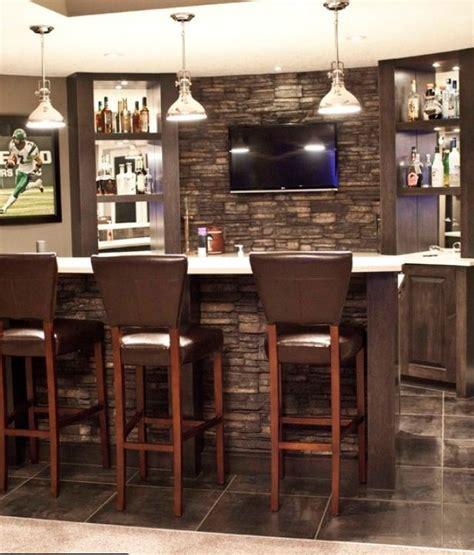 stone wall   bar bars  home basement bar