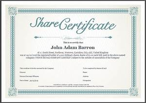shareholder certificate sample best free home design With shareholding certificate template