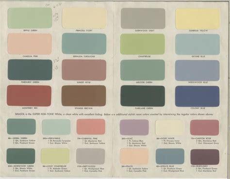 1951 sherwin williams kem tone color brochure