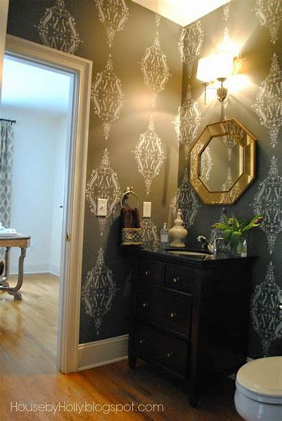 Powder Bold Office Rooms Wallpapersafari Dramatic Sits