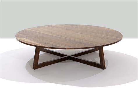 solid wood round coffee table finn solid wood 48 inch round coffee table modern