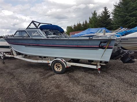 Sylvan Boats For Sale In Ontario by Sylvan 21 Foot Fishing Boat 1987 Used Boat For Sale In
