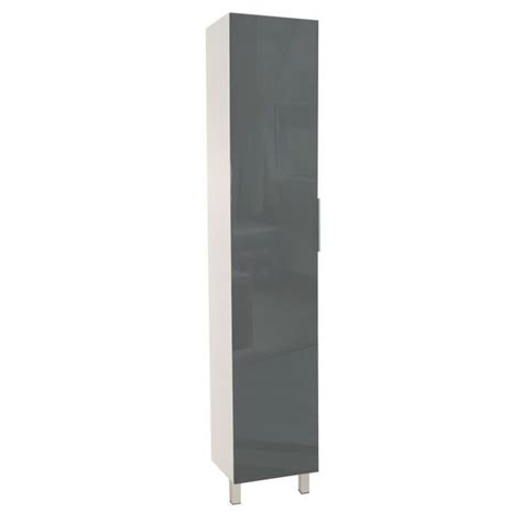 colonne cuisine 30 cm colonne de cuisine l 40 cm gris brillant achat vente