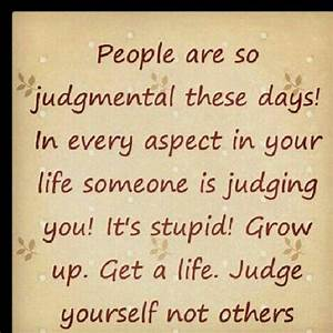 People need to get to know someone before they sit there ...