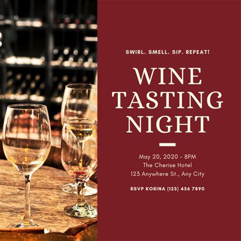 customize  wine tasting invitation templates  canva