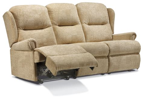 Reclining Settees by Malvern Standard Fabric Reclining 3 Seater Settee