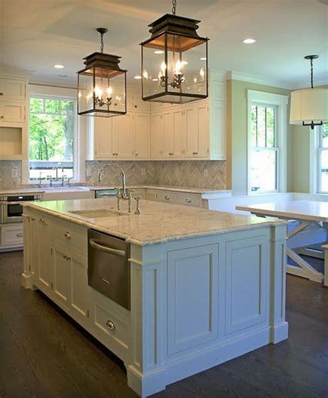 Beautiful Kitchen Backsplashes by Beautiful Island Lighting And Cabinets On