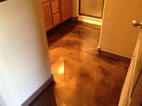 interior epoxy  concrete floor bathroom
