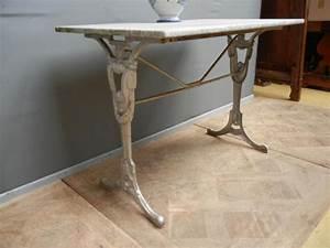 Table Marbre Rectangulaire : table de bistrot en marbre ancienne table de lit ~ Teatrodelosmanantiales.com Idées de Décoration