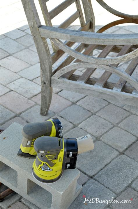 restore outdoor teak furniture tutorial hbungalow