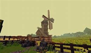 Medieval windmill with warehouse Minecraft Project