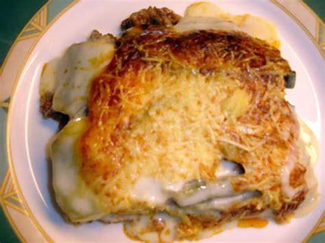 recette de cuisine avec pomme de terre recette de moussaka à ma façon avec pommes de terre