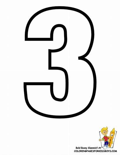 Number Alphabet Coloring Printables Learning Three Letters