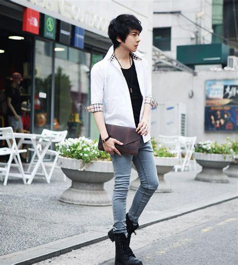 2015 summer style menu0026#39;s Korean version fashion minimalist style cotton solid slim square collar ...